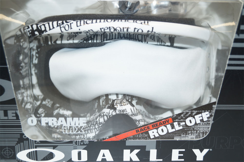 OAKLEY Ski Glasses O Frame MX Race Ready  OO 7029-33 702933 Tagline Black Clear