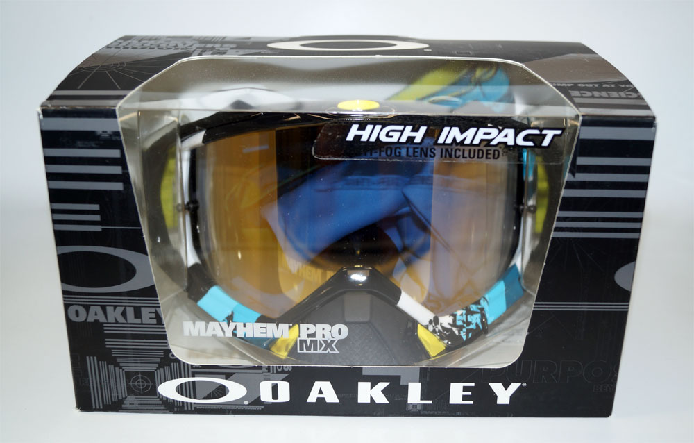 OAKLEY Ski Glasses Mayhem Pro Legacy OO 7051-05 705105 Blue 24K Iridium