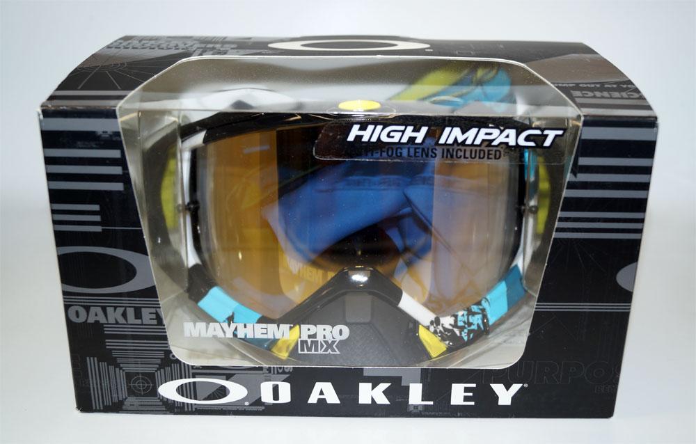 OAKLEY Ski Glasses Mayhem Pro Legacy OO 7051-05 705105 Blue 24K Iridium