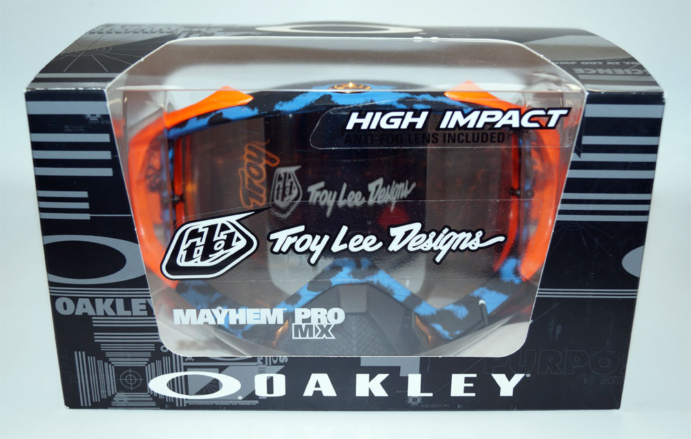 OAKLEY Ski Glasses Mayhem Pro MXTLD OO 7051-27 705127 Cheetah Blue Black Iridium