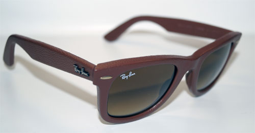 RAY BAN Sonnenbrille Sunglasses RB 2140QM 116985 Gr.50 Wayfarer Leather