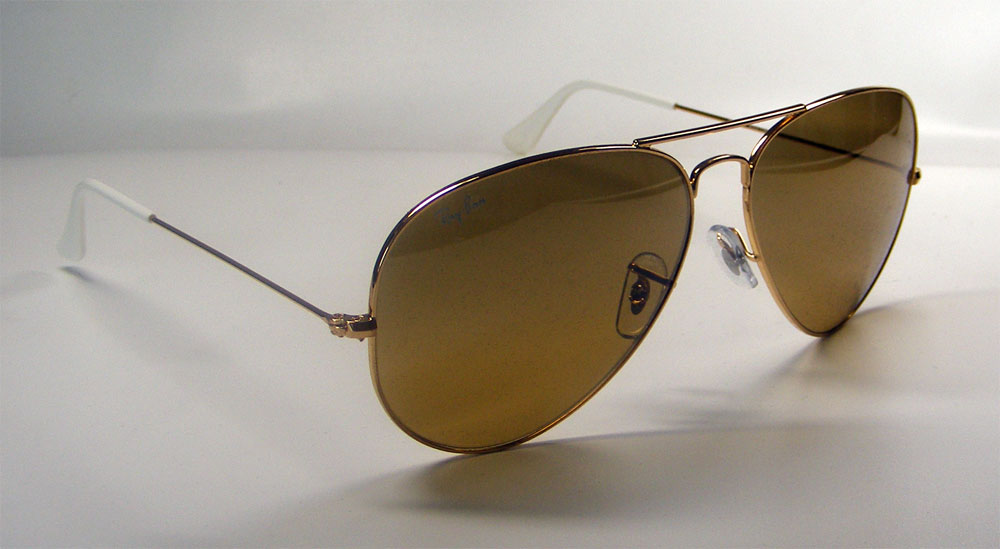 RAY BAN Sonnenbrille Sunglasses RB 3025 001/3K Gr.58 Aviator